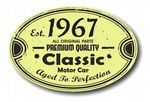 Distressed Aged Established 1967 Aged To Perfection Oval Design For Classic Car External Vinyl Car Sticker 120x80mm